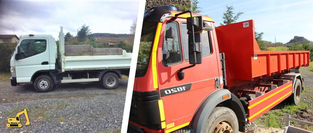 livraison et evacuation de materiaux au Puy en Velay